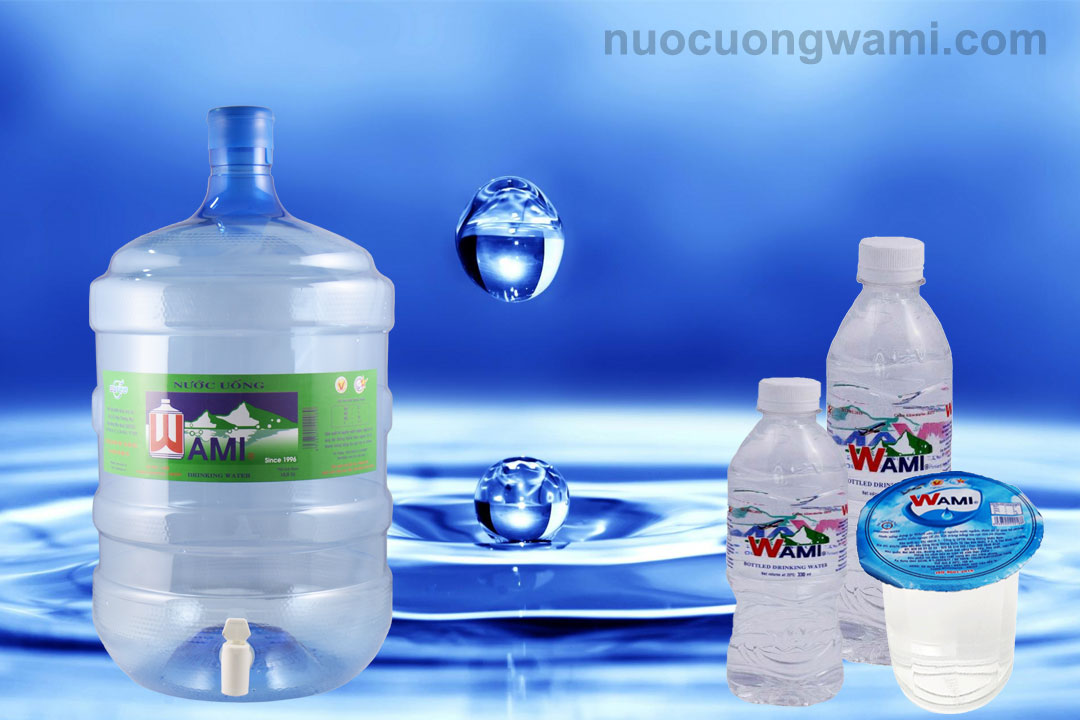 Sản phẩm nước Wami đóng chai