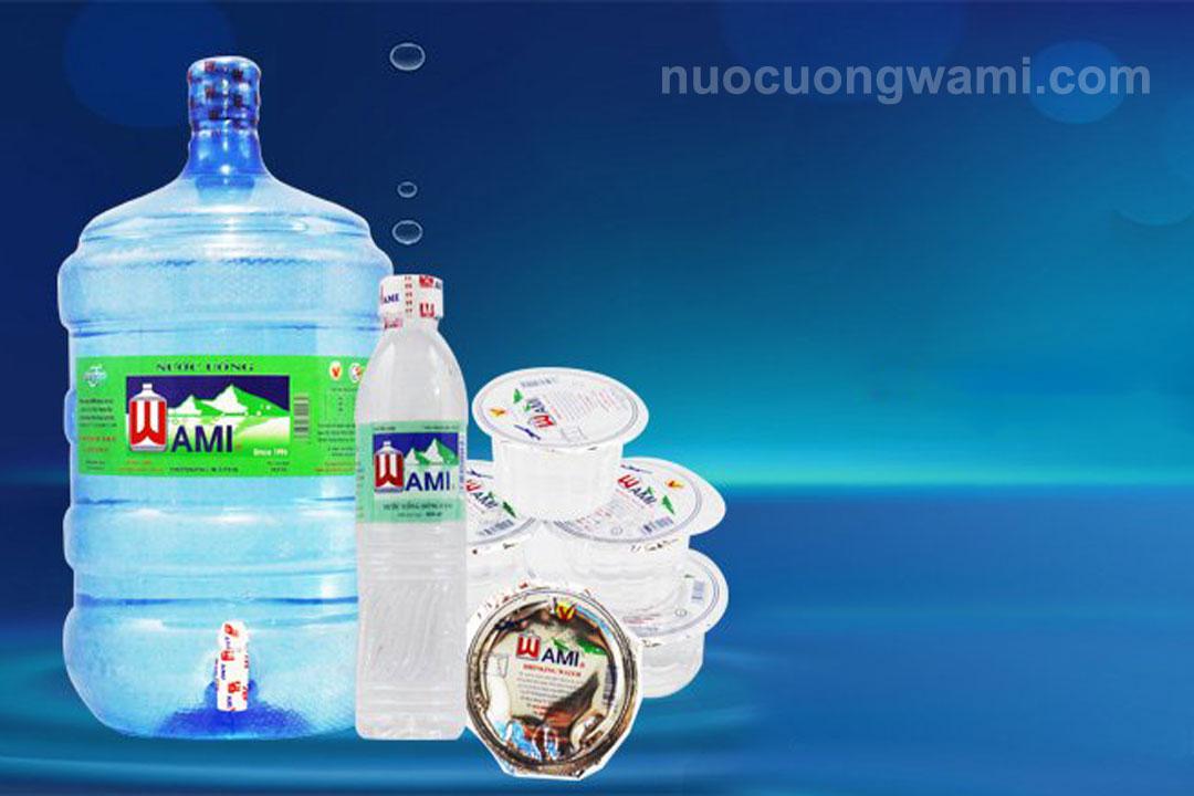 Các sản phẩm nước uống Wami tiêu dùng ở quận 3
