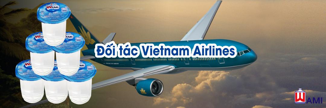 Nước suối ly Wami - Đối tác Vietnam Airlines