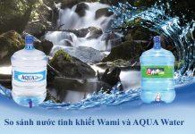 Nước uống Wami và nước uống AQUA Water
