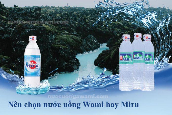 Nước uống Wami và nước uống Miru